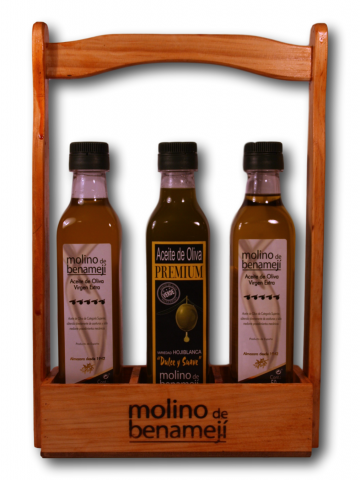 Aceite AOVE Pack madera 3 Botellas